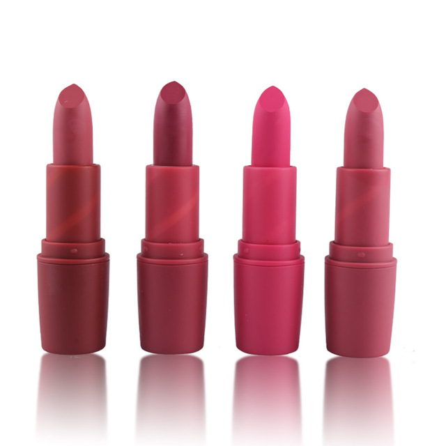 New MISS ROSE Lipstick Matte Waterproof Velvet Lip Stick 18 Colors Sexy Red Brown Pigments Makeup Matte Lipsticks Beauty Lips 2