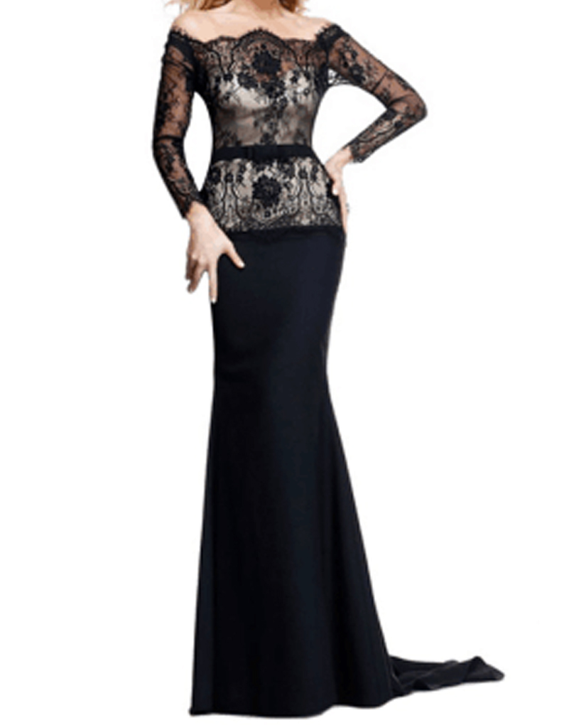 Elegant Navy Blue Mother Of The Bride Lace Dresses Long