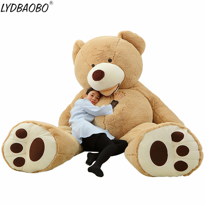 1PC 160CM Super Big America Giant Teddy Bear Skin Plush Toy Soft Teddy Bear Popular Doll Children Baby Birthday&Valentine's Gift teddy bear big bear doll white bear plush toys birthday gift life size teddy bear soft toy