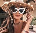 БУТИК Женщины Cat Eye Стиль Солнцезащитные Очки Женщины Марка Дизайнер Высокое Качество 6 цвета