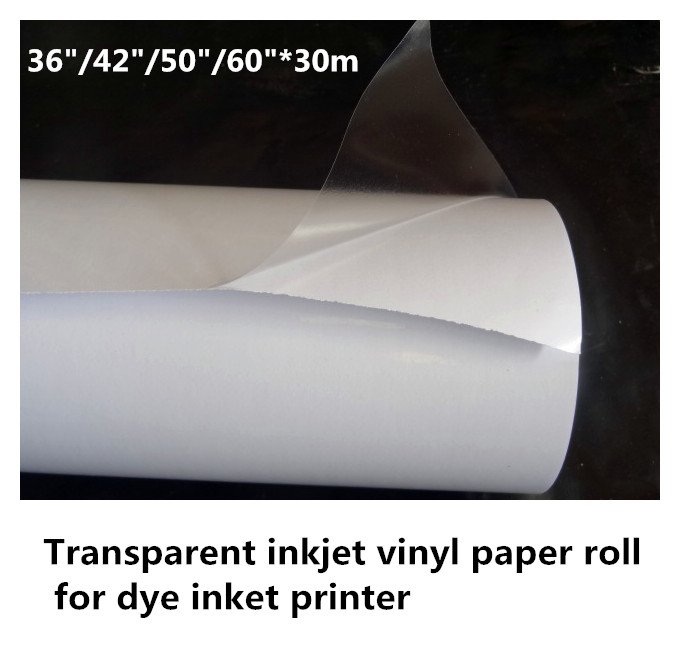 High quality inkjet material removable transparent self adhesive vinyl sticker