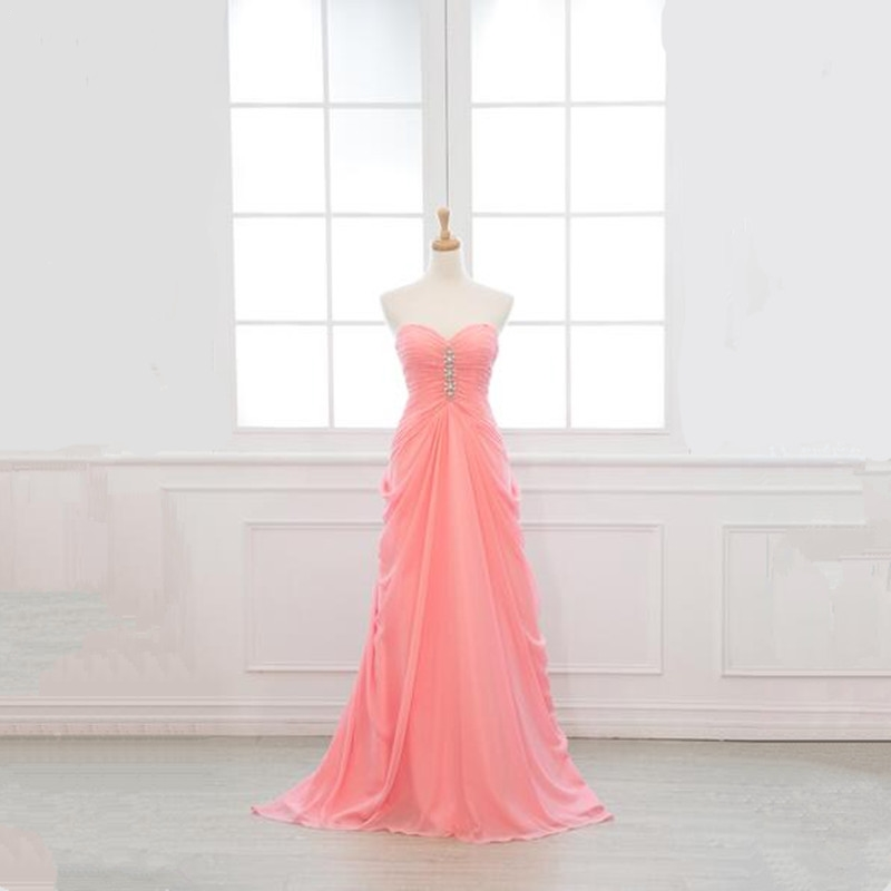 New Custom color & Size! sweetheart long   Bridesmaid     Dresses   colors wedding   dress   Prom party   dress   women Plus size 2019