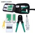 DB DBPOWER Kit de Rede Ethernet RJ45 Cable Tester RJ45 RJ11 Cat5 Cat6 Fio De Friso Crimper Ferramenta Punch Down Detector de Linha