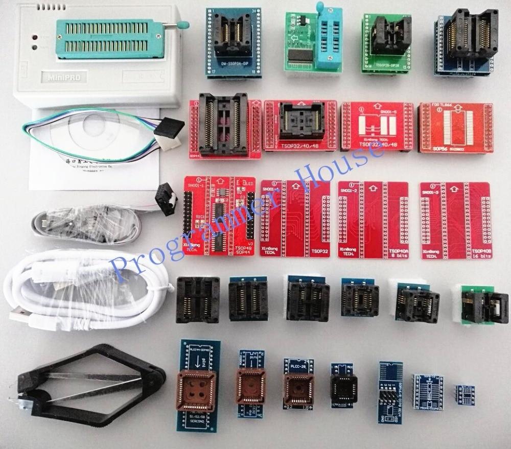 100% nouveau V8.33 TL866CS TL866A TL866II Plus programmeur universel minipro TL866 nand flash AVR PIC Bios USB programmeur + 27 adaptateurs - 2