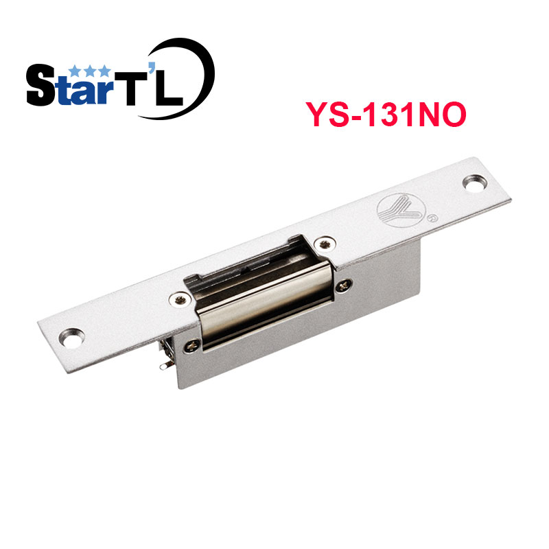 Access Control Narrow-type Electric Strike Lock NO Electric Yli YS131NO Fail Secure Strike Lock long type panel dual port electric strike lock cathode lock for access control no nc fail secure fail safe