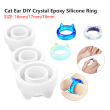Transparent Silicone Mould Dried Flower Silica Gel Decorative Craft DIY Arc Ring Mold Type Epoxy Silica Gel Molds For Jewelry