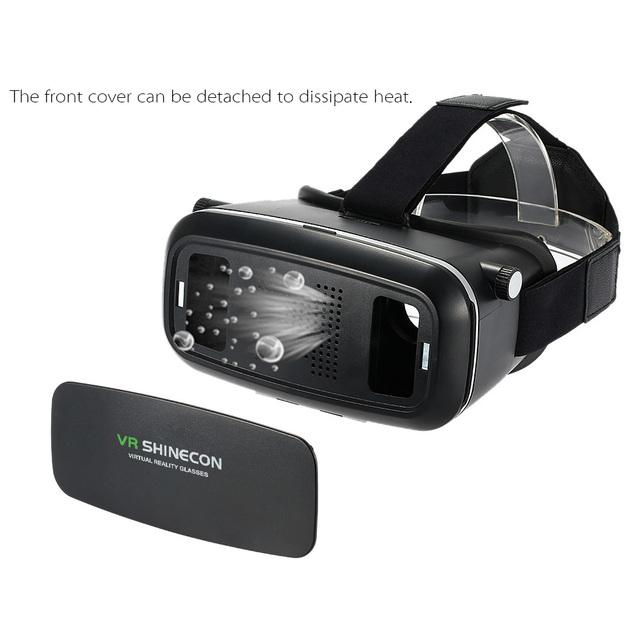 """VR 3D Gafas de Realidad Virtual montado en la Cabeza de Vídeo Juego de la Película de Cristal para 3.5 ~ 6 """"Teléfonos Android iOS ajustable pupila distancia del objeto"""
