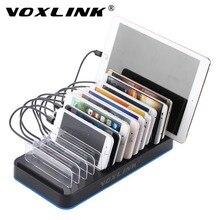 VOXLINK 15 Port USB Şarj 75 W Standı Tutucu Siyah Çoklu-port Ile Masaüstü Cep Telefonu Için Şarj İstasyonu Tablet iPhone iPad