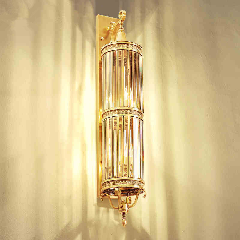 цены All Copper Wall Lamps European Outdoor Waterproof Lighting Villa Courtyards Wall Lamps Aisle Corridor Modern Exterior Wall light