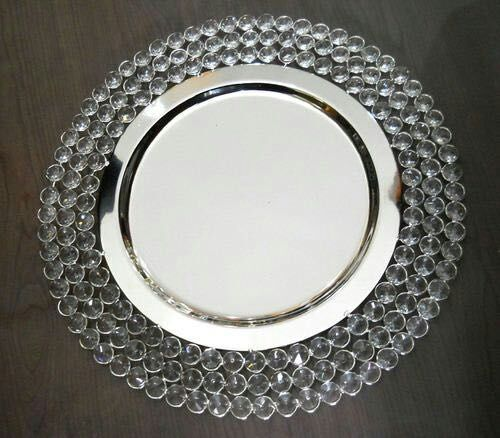Diy Wedding Dishes: Free Shipping , Crystal Chareger Plate , Charger Tray
