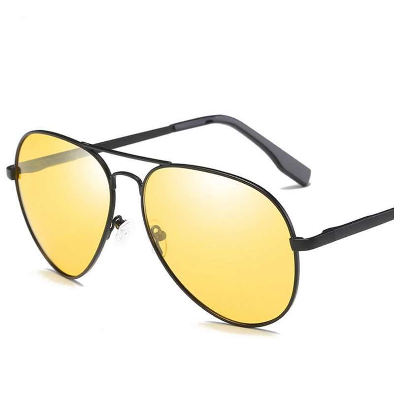 Anti-glare polarized sunglasses, color-changing night vision goggles, metal rimmed glasses, anti-dazzle lighting, mens cab 3025
