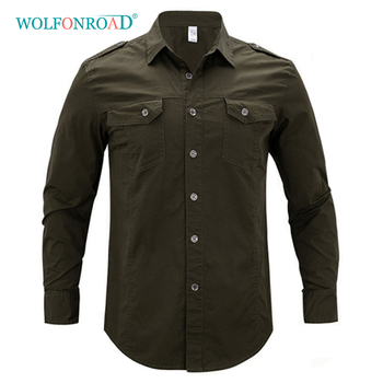 WOLFONROAD męskie koszule z długim rękawem letnie wędrówki Camping Outdoor Mountain koszule 5XL Plus rozmiar odzież sportowa Trekking męskie koszule tanie i dobre opinie Pełna COTTON L-HHFS-01 Camping i piesze wycieczki Pasuje prawda na wymiar weź swój normalny rozmiar Anti-shrink Oddychająca
