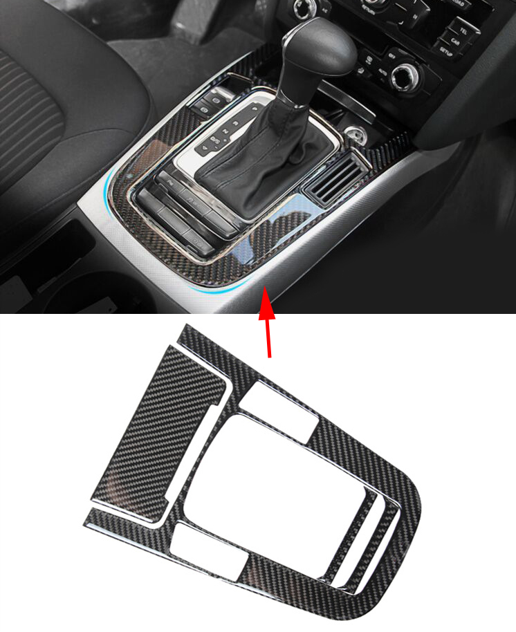 2016 Carbon Fiber Console Armrest Gear Shift Panel Cover Trim For Audi A5 A4 B8 2012-2016 Car Styling only for left hand drive interior abs gear shift box panel frame cover for audi a4 b9 2016 2017 sedan car accessories styling