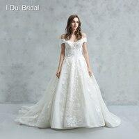 Off Shoulder High Quality Wedding Dress Luxury Bridal Gown