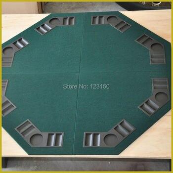 ET-04 складной настольный казино, четыре сложения, для игры Texas Holdem, зеленый