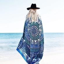 Estera de la playa Cubierta Del Pavo Real Impreso Tapiz Cómodo Sunblock Ronda Bikini Cover-Up Manta Toallas de Playa Un Tamaño