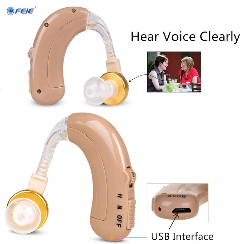 Clear Sound Hearing Aid USB Rechargeable Listeing Device Wireless Earphone Mini BTE hearing Aids for Elder/young/kid C-109