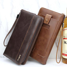 Business Large Capacity zipper phone PU leather purse high quality Multi card bit clutch 2019 fashion Patchwork men long wallet hello kitty large capacity long purse high quality pu lady card wallet gift for girlfriend
