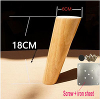 4PCS LOT H 18CM Diameter 4 6cm Furniture Accessories Oblique Sofa Wood Legs Solid Wood TV
