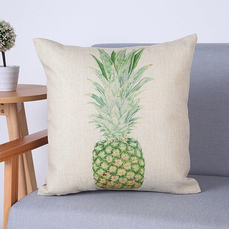 ><font><b>Farmhouse</b></font> style Customized Cushion Pineapple Flower decorative <font><b>pillow</b></font> case christmas <font><b>gift</b></font> Kissenbezug