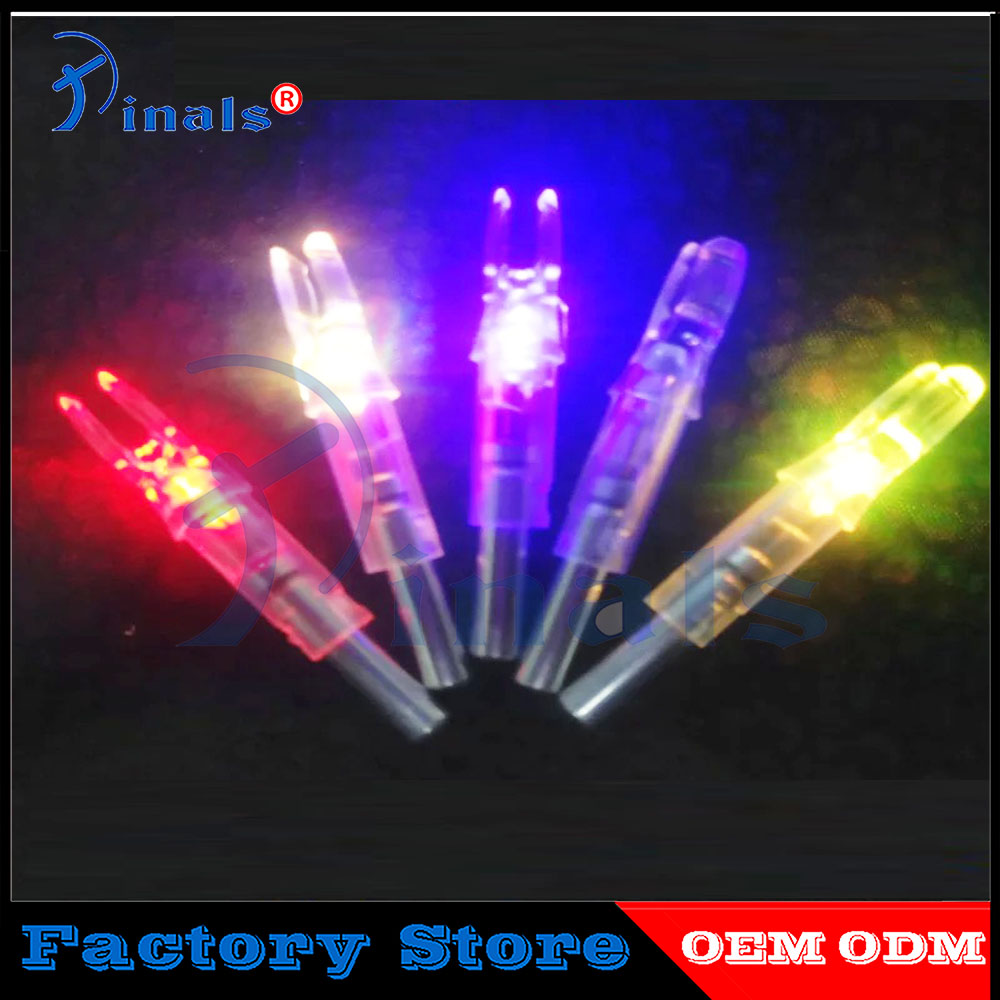 6Pcs 7.6mm Shooting Automatically Led Lighted New Style CrossBow Arrow Nock US