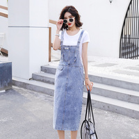 Summer Woman Suits Lady Suit Office Crop Top Crop Top And denim dress Set Two Piece Set plus size denims Suit Women