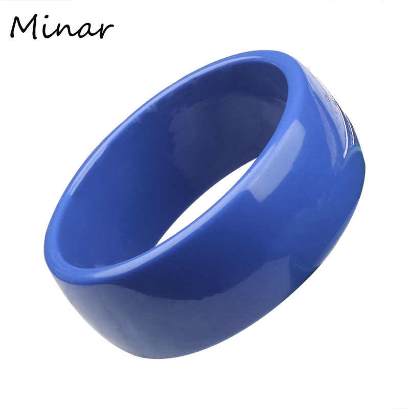 Plastic Candy Color Acrylic Bangles For Women Solid Color Ladies Bangles New Fashion Wide Bangles Bracelets Women Accessories