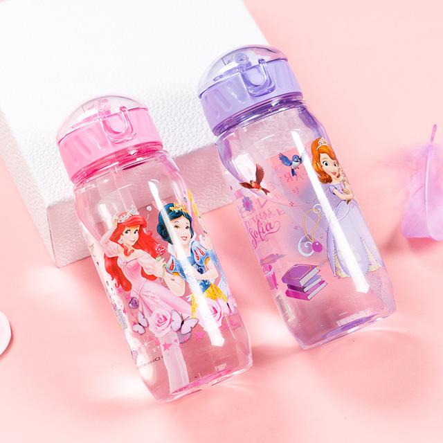 Botella de agua niños y niñas 450 ml., Tritan BPA, botella portátil para niños, a prueba de fugas .Calidad superior