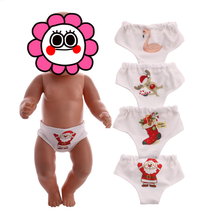 Flamingo Underwear doll panties Clothes for 18 inch Girl Doll Or 43cm new baby Christmas doll Accessories(China)