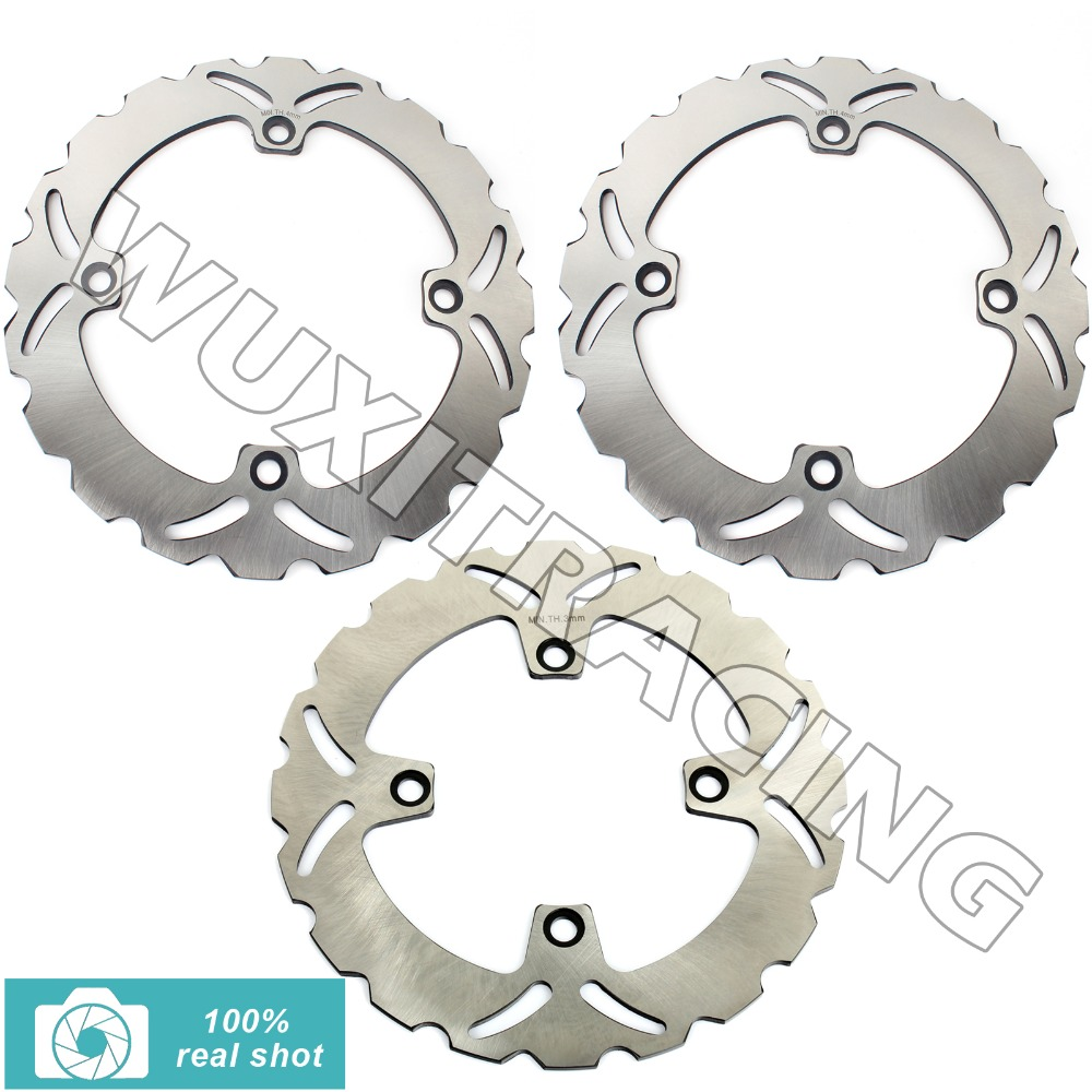 97 98 99 00 01 02 03 04 05 06 07 08 09 10 11 New Front Rear Full Set Brake Discs Rotors for Honda XLV TRANSALP 600 600 700 /ABS рычаги тросики и кабели для мотоцикла rctoper honda vtr1000f firestorm 98 99 00 01 02 03 04 05