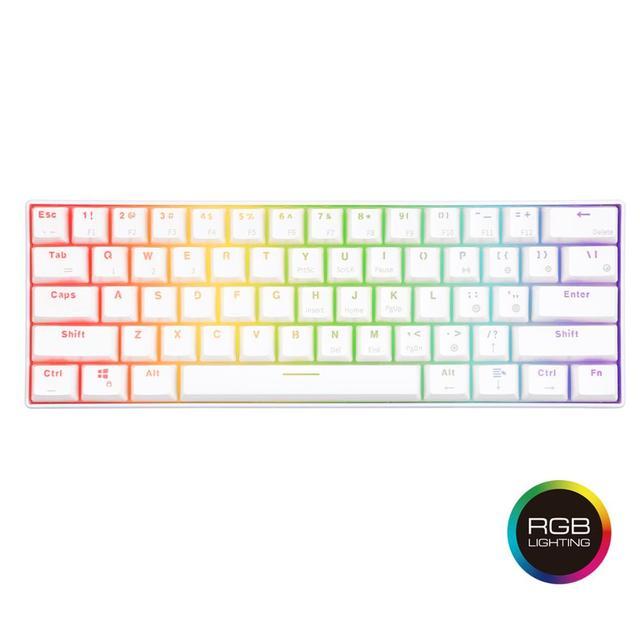 RK61 Wireless Bluetooth Mechanical Gaming Portable 60% Keyboards 61 Keys RGB Single Backlit Backlight Blue Brown Red Switch 2