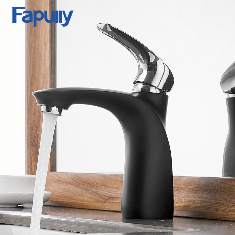 Fapully Basin Faucets Elegant Bathroom Faucet Hot and Cold Water Basin Mixer Tap Chrome Finish Brass Sink Water Faucets AEF0010 ledeme basin faucets basin faucet tap mixer finish brass vessel stylish sink water chrome modern waterfall faucets l1013