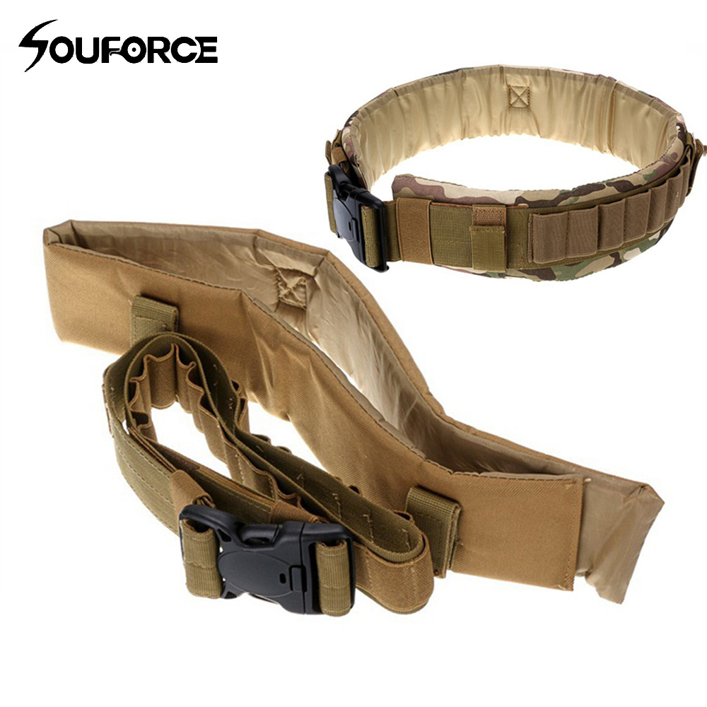 Tactical Military Belt Molle 25 Shotgun Shell Bandolier Belt with Nylon Shotgun Cartridge Belt for Hunting Accessories|nylon cartridge belt|belt molle|belt belt - title=