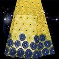 Bqg13 новое поступление африканский гипюр кружевной ткани высокое качество полиэстер материал для свадебного платья в продаже бесплатная доставка