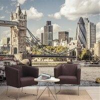 Пользовательские фото обои город реки Темзы в Лондоне пейзаж исследование спальня гостиная ТВ фон настенные росписи обоев