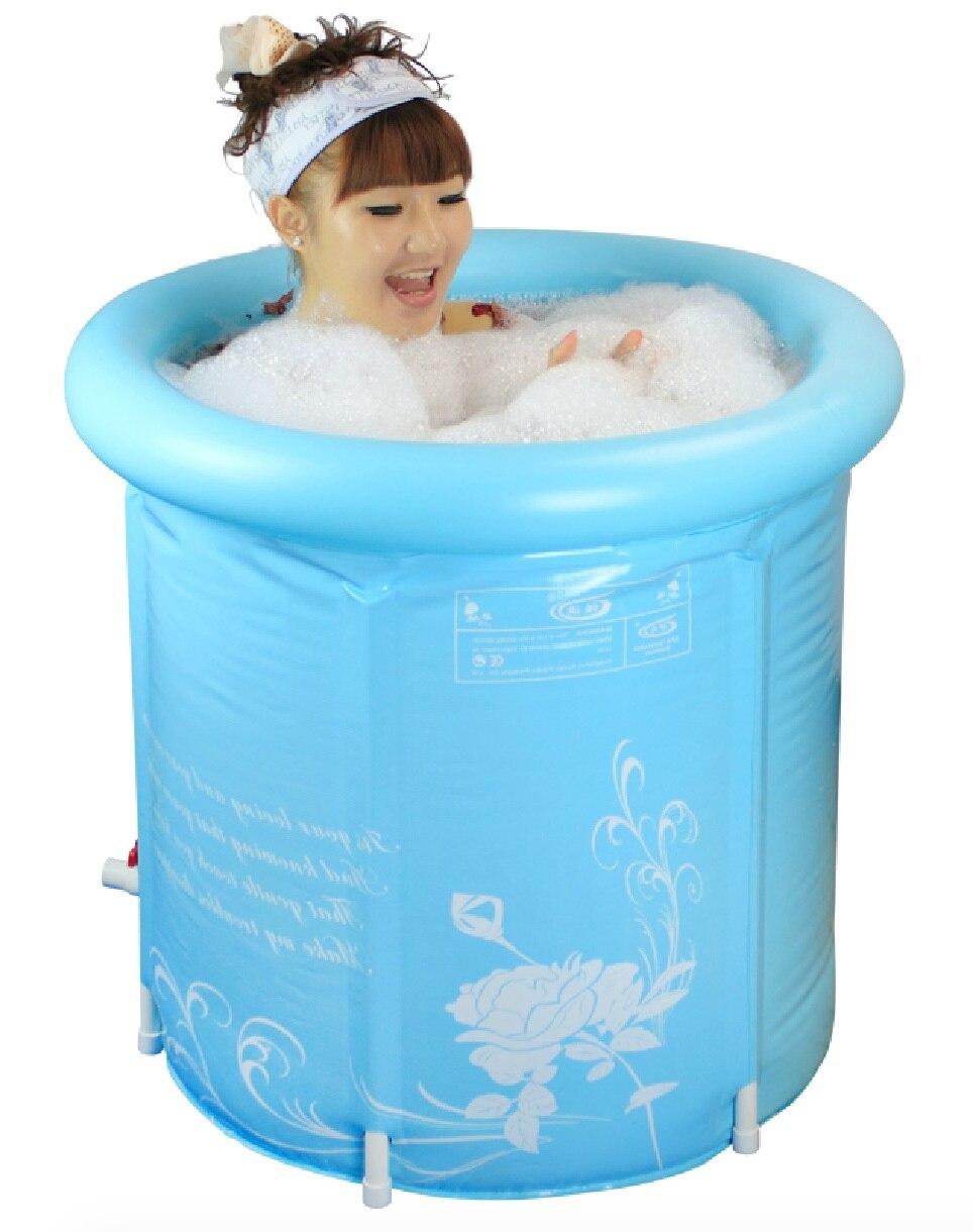 Size:70*70cm,With Pump,Water Thickening Folding Tub,Adult Bathtub ...