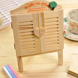ФОТО Brand New Wooden Toy Mini Desktop Zakka Louvered Window Small Blackboard Message Board
