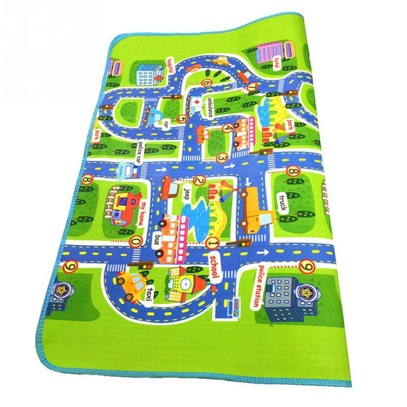 Professional Children Play Mat Baby Playing Crawling Rug Carpet Blanket Kids Toy Traffic City 130*160cm ...