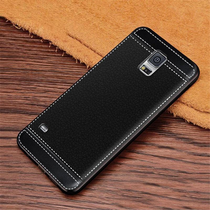 Fo rGalaxy S5 i9600 G900 G900F G900A Litchi Texture Soft TPU Case Cover Fundas For Samsung Galaxy S5 Neo SM-G903F/DS G903F G900F(China)