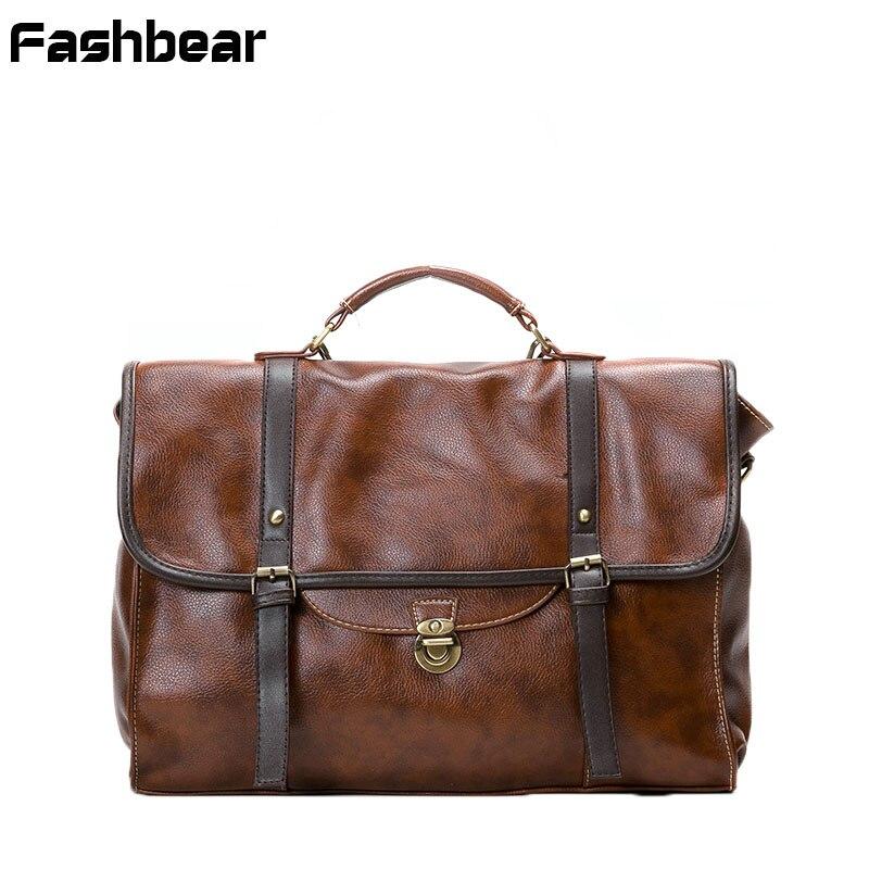 Women Briefcase Functional Men Document Business Handbag Vintage Top-handle Bags Male Laptop Bag Retro Large Bagpack Shoulder