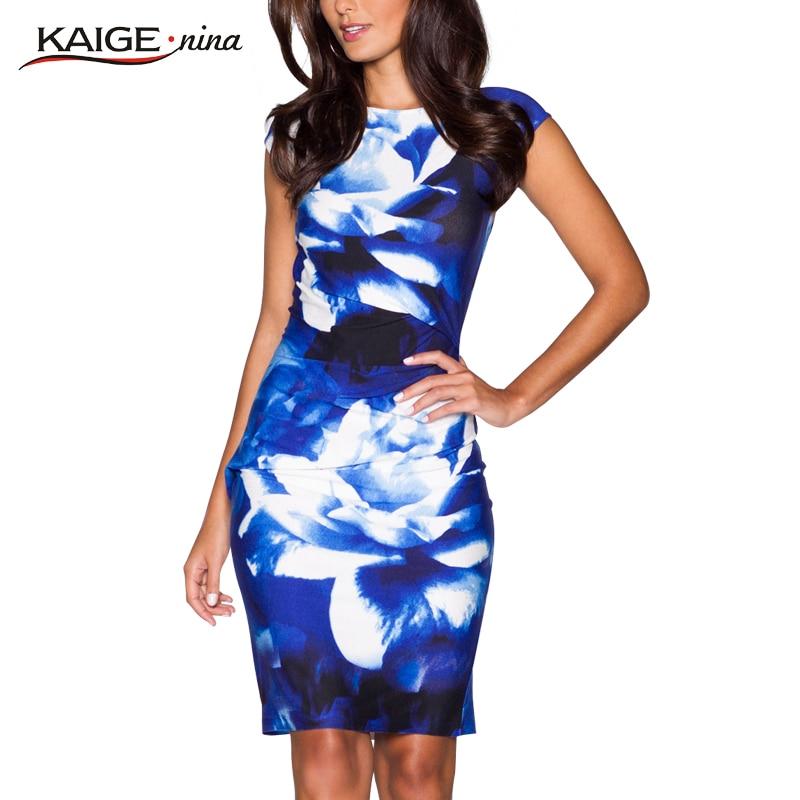 New Printed  Bodycon Dress Women Summer Dresses Kaige.Nina Brand Plus Size Women Clothing Sexy Dresses 9021