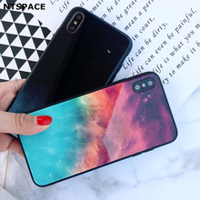 Gradient Glass Phone Case For iPhone 6 6S 7 8 Plus Ultra Thin Tempered Cases for X XS Max XR Colorful Cover