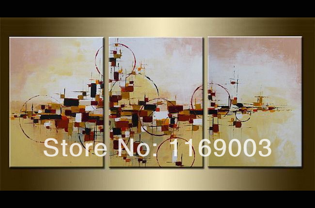Abstract 3 piece canvas wall art decorative modern handmade font b Knife b font oil painting