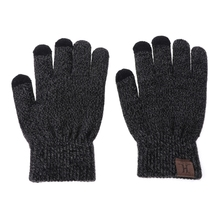 3 Pcs Unisex Men Women Knit Hat Scarf Touch Screen Gloves Warm Winter Set