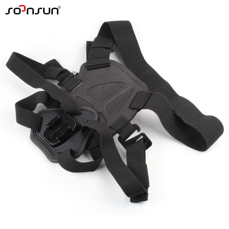 SOONSUN Harness Chest Back Strap Mount Accessories for Fetch Dog Pet