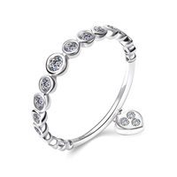 New Collection 925 Sterling Silver Ring Heart Shape Engagement Wedding Finger Rings AAA Cubic Zircon For