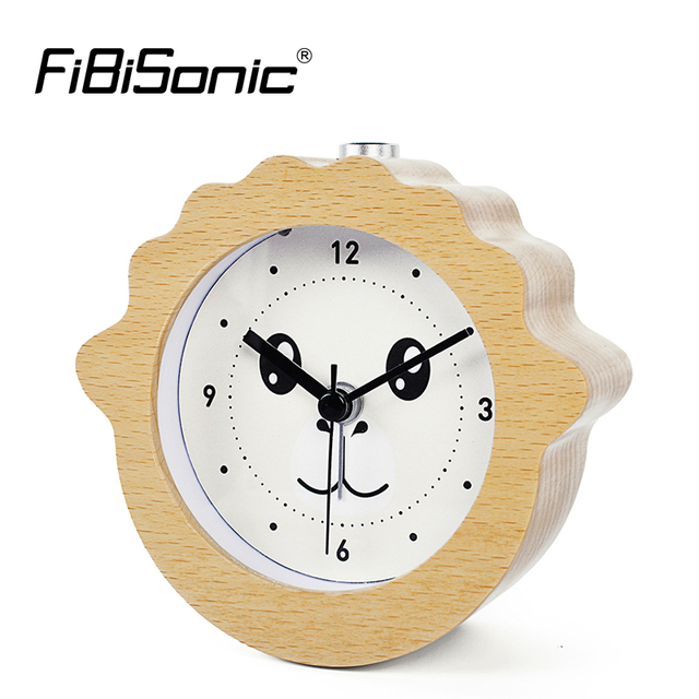 8da9cce43 FiBiSonic Chinese Zodiac Aries Animal Goat Wooden Snooze Night Light Alarm  Clock Wood Desktop Table Clocks
