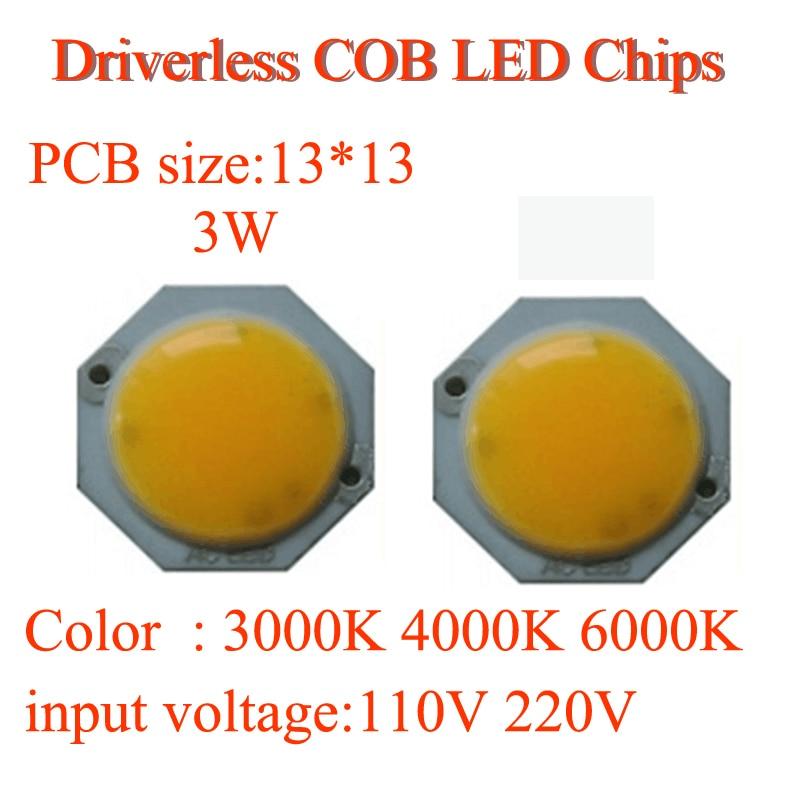 Visoka svetlost brez voznikov PCB 3W / 5W okrogla COB LED žarnica - Pribor za razsvetljavo - Fotografija 1