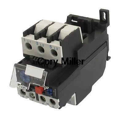 Motor Protector AC 7A-10A Thermal Overload Relay 1 NO 1 NC 7 10a adjustable thermal relay  overload