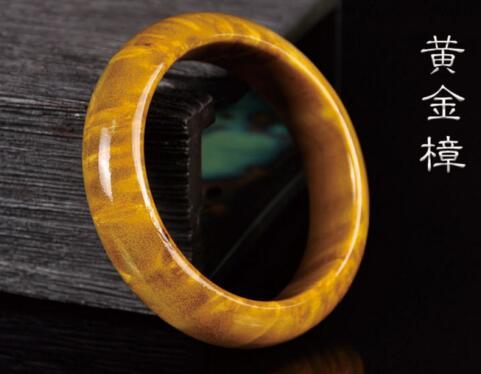 free shipping high grade wood bracelet, natural Gold camphorwood hand-carved bracelet
